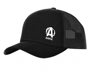 Animal Black Snapback Mesh Cap